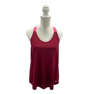 Red & Pink Nike Dri-Fit T-back Tank Top Loose Fit